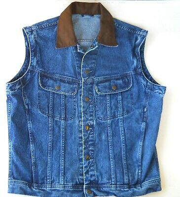 Dakota Blue Jean Vest Heavy Weight Tags removed see description for measurements