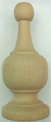 """Wood Finial Turning Size  4-3/8"""" High"""
