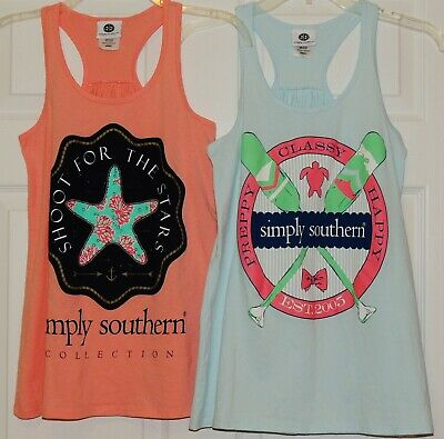 66f685198e5940 LOT 2 SIMPLY SOUTHERN COLLECTION Tank Tops XS -  7.00
