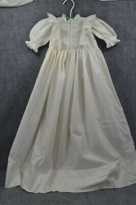 baby dress doll Christening Victorian white lace cotton 1890 original antique
