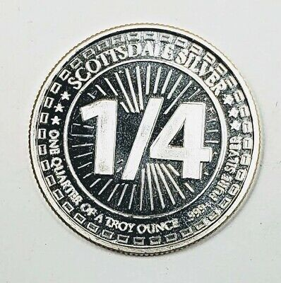 Scottsdale Silver Round 999 Pure 1/4 Ounce Troy