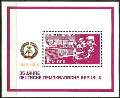 Germany (East) DDR GDR 1984 MNH 35th Anniv German Democratic Republic Flats M/S