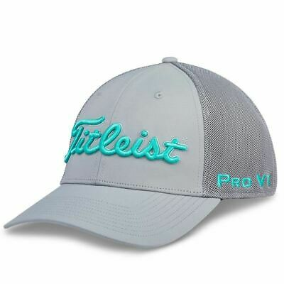 Titleist Tour Sports Mesh Fitted Hat- Grey/Teal