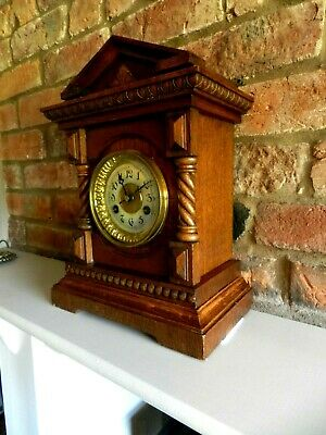 Antique German Junghans  Mantle Or Bracket Clock In Good Working Order