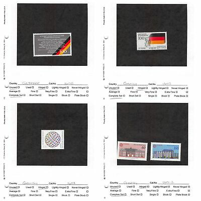 Lot of 37 Germany MH Mint Hinged Stamps Scott Range # 1601 - 1785 #141164 X R