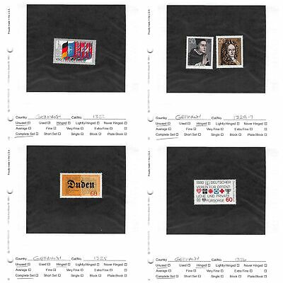 Lot of 38 Germany MH Mint Hinged Stamps Scott Range # 1322 - 1398 #141161 X R