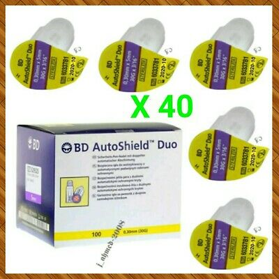 X 40 BD Autoshield Duo 0.30mm (30G) x 5mm Brand new & sealed (05/2021)