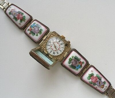 Chaika Women's Watch USSR Soviet Russian Mechanical Watch Bracelet Enamel Finift