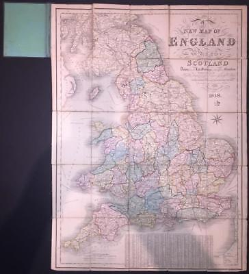 1848 Original Antique 'NEW MAP OF ENGLAND AND PART OF SCOTLAND' by Reynolds