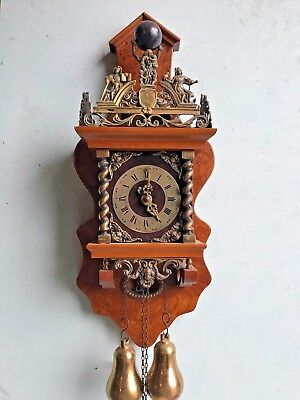 Antique Original Zaandam Zaanse Wall Clock - FREE WORLDWIDE SHIPPING