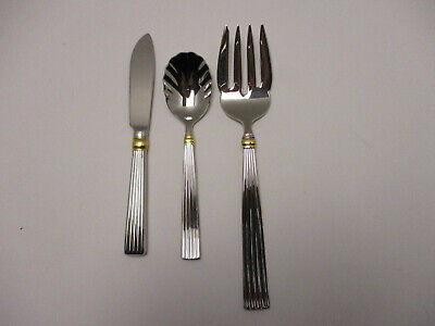 Reed /& Barton GOLDEN CRESCENDO Stainless Glossy Gold Accent Flatware CHOICE