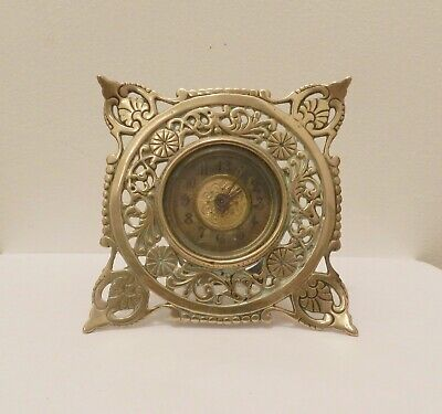 British United Clock Co - Antique Brass Mantel Clock