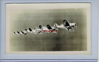 1938 Seversky P-35  27Th Pursuit Squadron In Flight Usaac Army Original Photo