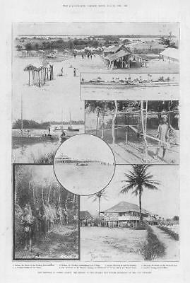 1898 Antique Print - AFRICA Sierra Leone Sulima Manoh Districts Vai Country (17)