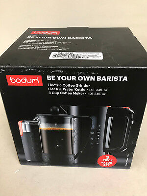 BODUM Chambord Set French Press Coffee Maker,8 Cup, 34oz,Electric KETTLE, K10938