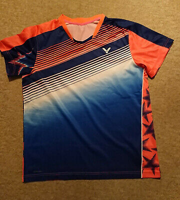 Sporting Goods Victor T-shirt Malaysia Unisex Blue 6327 Xl Size