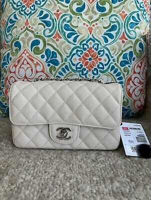 c9cb3c45 NEW CHANEL 18C Mini Flap Blue Navy Quilted Lambskin Lt Gold HW ...