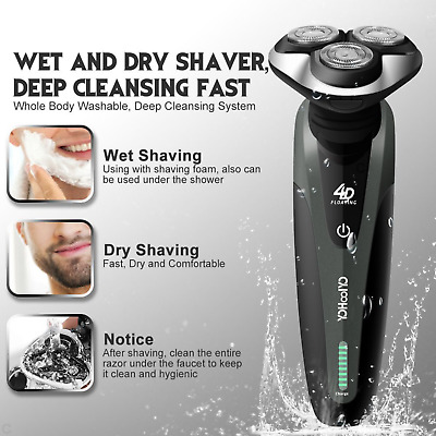 Electric Shaver Mens Razor Wet Dry Rotary Shaver Rechargeable Philips Cordless