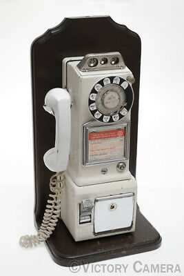Western Electric Bell 3 Three Slot Pay Telephone Phone White (412-2)