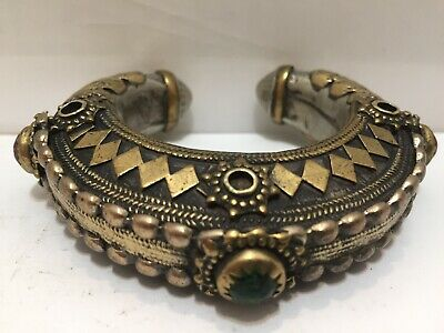 Antique Middle Eastern Islamic Silver Gilded Bracelet
