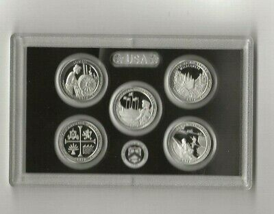 2019 s 5-piece .999 silver quarters proof set