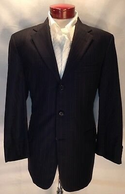 E543 Vtg Tom James Innocenti Blazer Sport Coat 100% Wool Size 44R