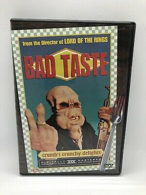 Bad Taste DVD Anchor Bay Peter Jackson with Insert Rare