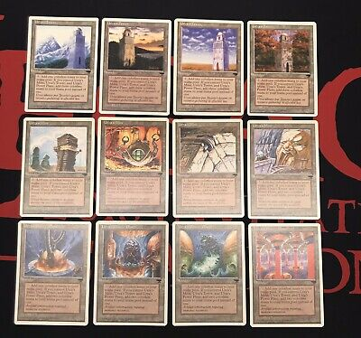 Mine Set of Urza/'s Lands Power Plant Tower 5th Fifth Edition NM NBP MTG Magic