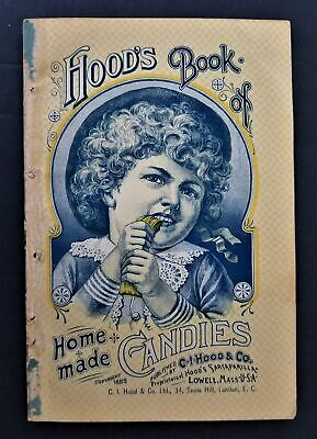 1888 antique CANDY COOKBOOK homemade HOOD'S with ROBBINS GROCER w peterboro nh