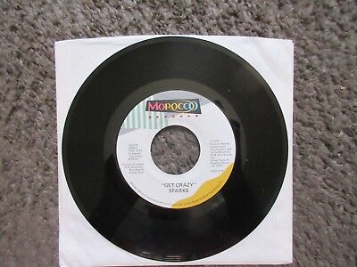 """SPARKS """"GET CRAZY""""+ MALCOLM McDOWELL """"HOT SHOT"""" 1983 FROM OST EX- RARE OOP 7"""" 45"""