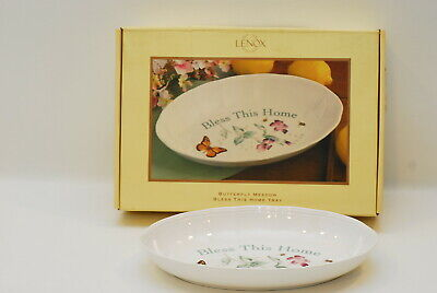 Lenox Butterfly Meadow Bless This Home Tray 11 1/8 Inch