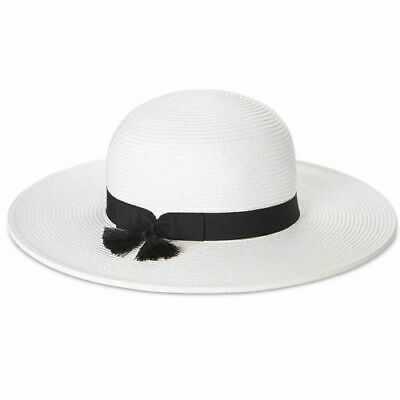 1aa048b2e94 NINE WEST PACKABLE Floppy Hat White Black One Size -  8.99