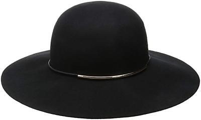 889c17dccc6 Nine West Women s Felt Floppy Hat With Metal Tube Black One Size New NWT  54