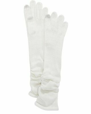 INC International Concepts Ruched Long Gloves Ivory