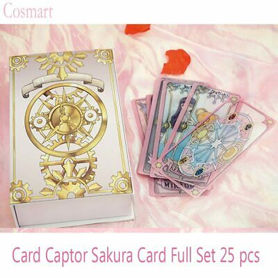 Anime Card Captor Sakura Clear Magic Cards Full set 25 cards Cosplay props