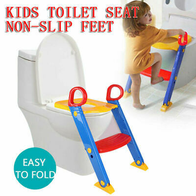 Baby Toddler Potty Training Step Trainer Non Slip Safety Kids Toilet Seat Ladder