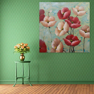 Modern Abstract Hand-painted Art Oil Painting Flowers On Canvas (With Framed)