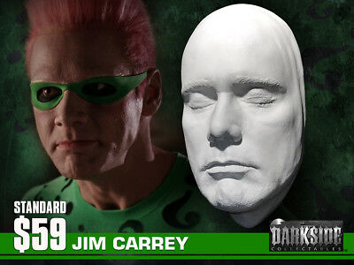 NEW JIM CARREY RIDDLER LIFE-SIZE Life Cast in Lightweight White Resin