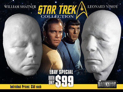 THE STAR TREK COLLECTION NIMOY SHATNER LIFE-SIZE Life Casts in Lightweight Resin