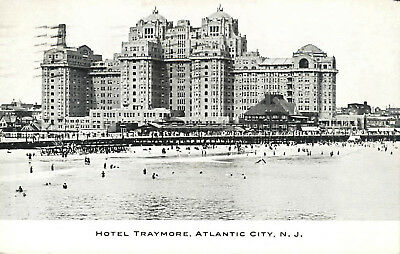 Hotel Traymore Beach & Ocean Atlantic City New Jersey1916 Postcard Architecture
