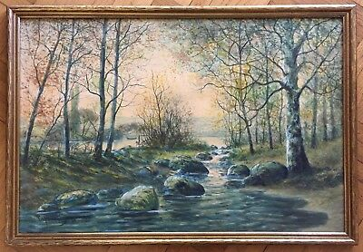 Lovely, Raphael Senseman (American1870-1965) Original Watercolor Painting,Signed