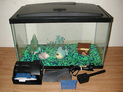 Aqueon Aquarium 10 Gallon Fish Tank With Econo Hood, Pump And Accessories