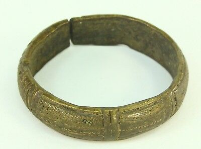 ! Antique West African BAULE Bronze Anklet Bracelet Ivory Coast Currency Baoulé