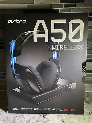 ASTRO Gaming A50 Wireless Dolby Gaming Headset (Black/Blue) PS4 / PC New Sealed