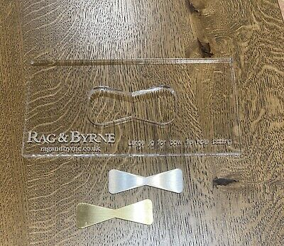 Router Jig / Template For Brass Butterfly / Bowtie Inlay- for wood working