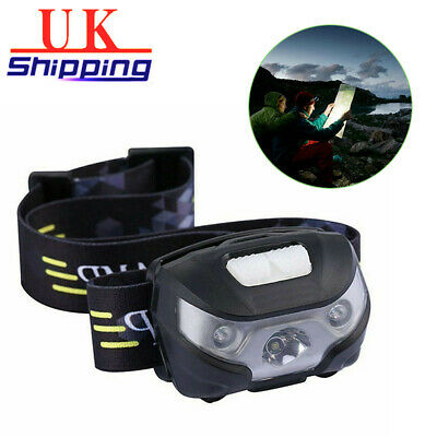 Super Bright Waterproof Head Torch/Headlight LED USB Rechargeable Headlamp New