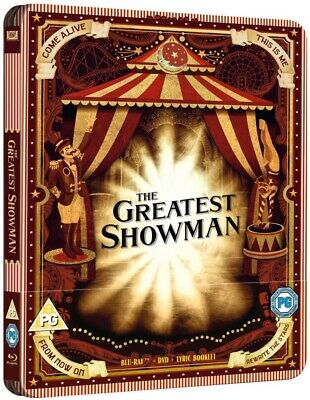 The Greatest Showman Limited Edition Steelbook Blu-ray! New With Free Delivery!