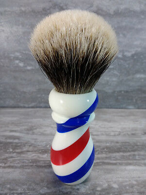 Yaqi New Barber Pole Style 24mm Two Band Badger Knot Shaving Brush R1742-B