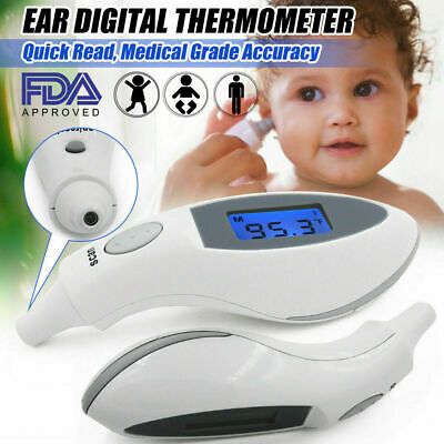 ET100B Digital LCD Ear Thermometer Medical Baby Adult Body Safe Temperature Oral