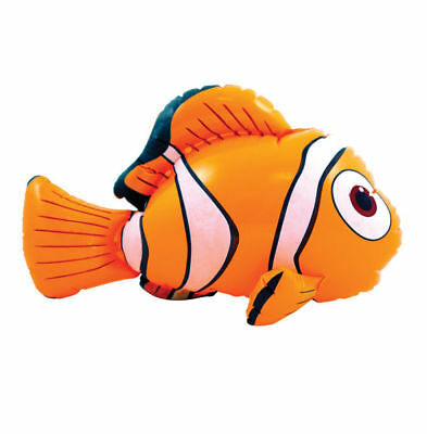 Pool Play Toy Orange Inflatable Nemo Clown Fish Blow Up Ocean Dory Fishes